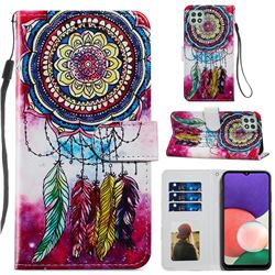 Dreamcatcher Smooth Leather Phone Wallet Case for Samsung Galaxy A22 5G