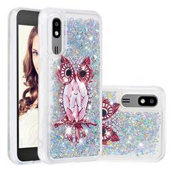 Seashell Owl Dynamic Liquid Glitter Quicksand Soft TPU Case for Samsung Galaxy A2 Core