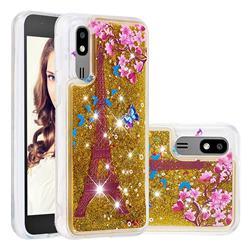 Golden Tower Dynamic Liquid Glitter Quicksand Soft TPU Case for Samsung Galaxy A2 Core