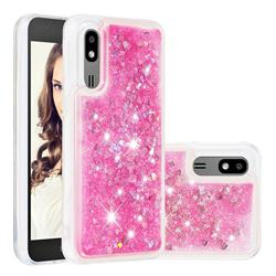 Dynamic Liquid Glitter Quicksand Sequins TPU Phone Case for Samsung Galaxy A2 Core - Rose