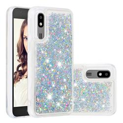 Dynamic Liquid Glitter Quicksand Sequins TPU Phone Case for Samsung Galaxy A2 Core - Silver
