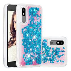 Dynamic Liquid Glitter Quicksand Sequins TPU Phone Case for Samsung Galaxy A2 Core - Blue