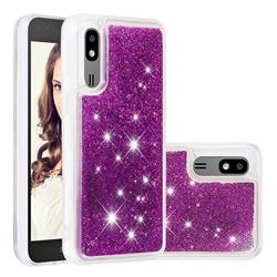 Dynamic Liquid Glitter Quicksand Sequins TPU Phone Case for Samsung Galaxy A2 Core - Purple