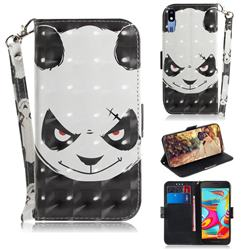 Angry Bear 3D Painted Leather Wallet Phone Case for Samsung Galaxy A2 Core