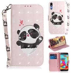Heart Cat 3D Painted Leather Wallet Phone Case for Samsung Galaxy A2 Core