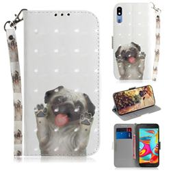Pug Dog 3D Painted Leather Wallet Phone Case for Samsung Galaxy A2 Core