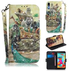 Beast Zoo 3D Painted Leather Wallet Phone Case for Samsung Galaxy A2 Core