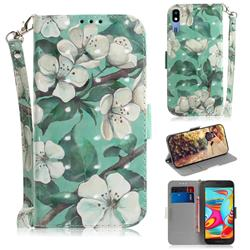 Watercolor Flower 3D Painted Leather Wallet Phone Case for Samsung Galaxy A2 Core