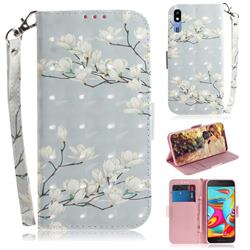 Magnolia Flower 3D Painted Leather Wallet Phone Case for Samsung Galaxy A2 Core