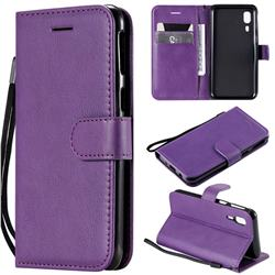 Retro Greek Classic Smooth PU Leather Wallet Phone Case for Samsung Galaxy A2 Core - Purple