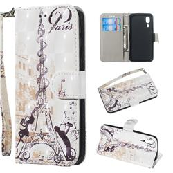 Tower Couple 3D Painted Leather Wallet Phone Case for Samsung Galaxy A2 Core