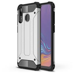 King Kong Armor Premium Shockproof Dual Layer Rugged Hard Cover for Samsung Galaxy A30 - White