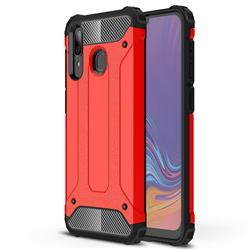 King Kong Armor Premium Shockproof Dual Layer Rugged Hard Cover for Samsung Galaxy A30 - Big Red