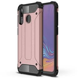 King Kong Armor Premium Shockproof Dual Layer Rugged Hard Cover for Samsung Galaxy A30 - Rose Gold