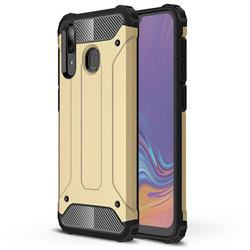 King Kong Armor Premium Shockproof Dual Layer Rugged Hard Cover for Samsung Galaxy A30 - Champagne Gold