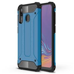 King Kong Armor Premium Shockproof Dual Layer Rugged Hard Cover for Samsung Galaxy A30 - Sky Blue