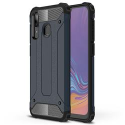 King Kong Armor Premium Shockproof Dual Layer Rugged Hard Cover for Samsung Galaxy A30 - Navy