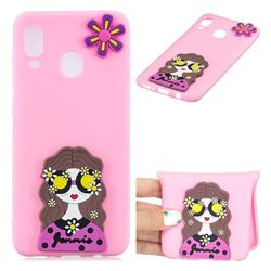 Violet Girl Soft 3D Silicone Case for Samsung Galaxy A30