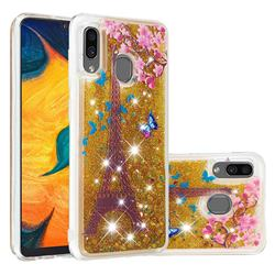 Golden Tower Dynamic Liquid Glitter Quicksand Soft TPU Case for Samsung Galaxy A30
