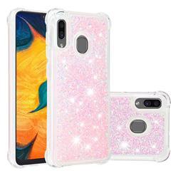 Dynamic Liquid Glitter Sand Quicksand TPU Case for Samsung Galaxy A30 - Silver Powder Star
