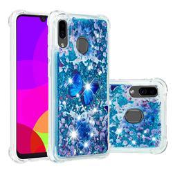 Flower Butterfly Dynamic Liquid Glitter Sand Quicksand Star TPU Case for Samsung Galaxy A30