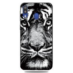White Tiger 3D Embossed Relief Black TPU Cell Phone Back Cover for Samsung Galaxy A30