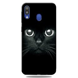 Bearded Feline 3D Embossed Relief Black TPU Cell Phone Back Cover for Samsung Galaxy A30