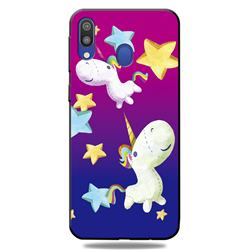 Pony 3D Embossed Relief Black TPU Cell Phone Back Cover for Samsung Galaxy A30