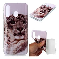 White Leopard Soft TPU Cell Phone Back Cover for Samsung Galaxy A30