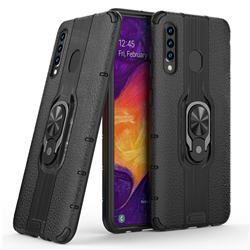 Alita Battle Angel Armor Metal Ring Grip Shockproof Dual Layer Rugged Hard Cover for Samsung Galaxy A30 - Black