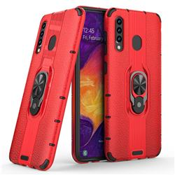 Alita Battle Angel Armor Metal Ring Grip Shockproof Dual Layer Rugged Hard Cover for Samsung Galaxy A30 - Red