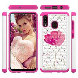 Watercolor Studded Rhinestone Bling Diamond Shock Absorbing Hybrid Defender Rugged Phone Case Cover for Samsung Galaxy A30