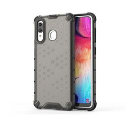 Honeycomb TPU + PC Hybrid Armor Shockproof Case Cover for Samsung Galaxy A30 - Gray