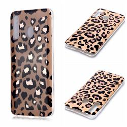 Leopard Galvanized Rose Gold Marble Phone Back Cover for Samsung Galaxy A30