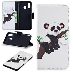 Tree Panda Leather Wallet Case for Samsung Galaxy A30