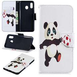 Football Panda Leather Wallet Case for Samsung Galaxy A30