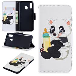 Baby Panda Leather Wallet Case for Samsung Galaxy A30