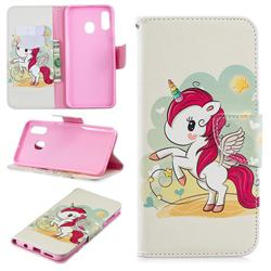 Cloud Star Unicorn Leather Wallet Case for Samsung Galaxy A30
