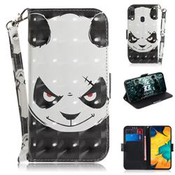 Angry Bear 3D Painted Leather Wallet Phone Case for Samsung Galaxy A30