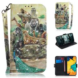 Beast Zoo 3D Painted Leather Wallet Phone Case for Samsung Galaxy A30