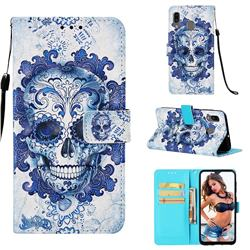 Cloud Kito 3D Painted Leather Wallet Case for Samsung Galaxy A30