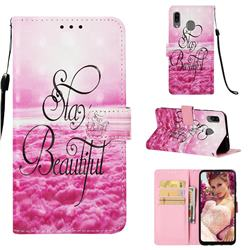 Beautiful 3D Painted Leather Wallet Case for Samsung Galaxy A30
