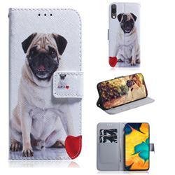 Pug Dog PU Leather Wallet Case for Samsung Galaxy A30