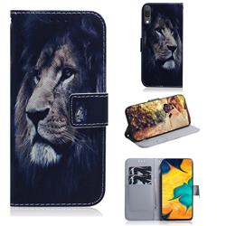Lion Face PU Leather Wallet Case for Samsung Galaxy A30