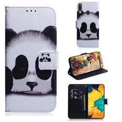 Sleeping Panda PU Leather Wallet Case for Samsung Galaxy A30