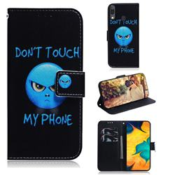 Not Touch My Phone PU Leather Wallet Case for Samsung Galaxy A30