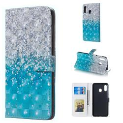 Sea Sand 3D Painted Leather Phone Wallet Case for Samsung Galaxy A30