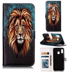 Ice Lion 3D Relief Oil PU Leather Wallet Case for Samsung Galaxy A30