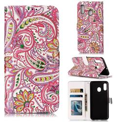 Pepper Flowers 3D Relief Oil PU Leather Wallet Case for Samsung Galaxy A30