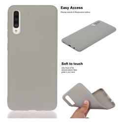 Soft Matte Silicone Phone Cover for Samsung Galaxy A30s - Gray